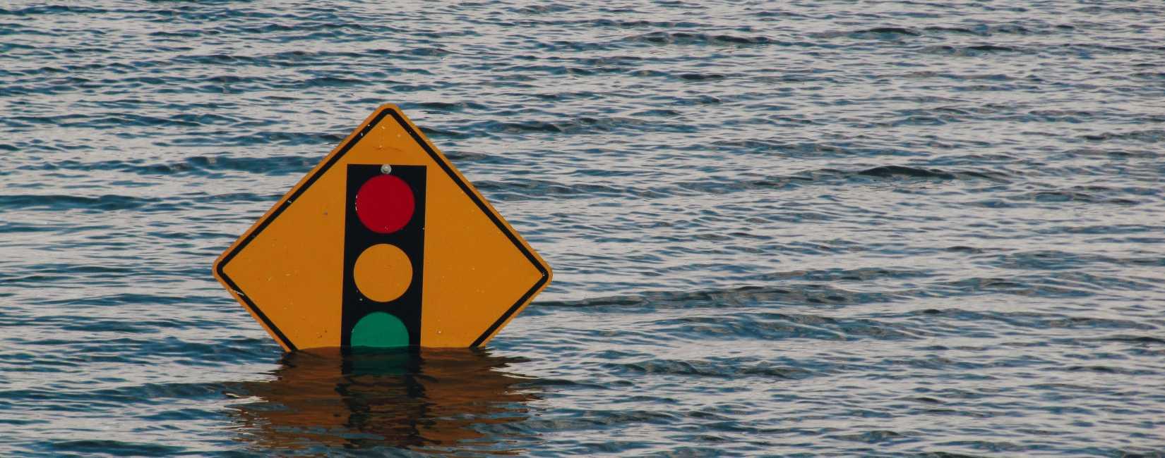 Trafikkskilt under vann