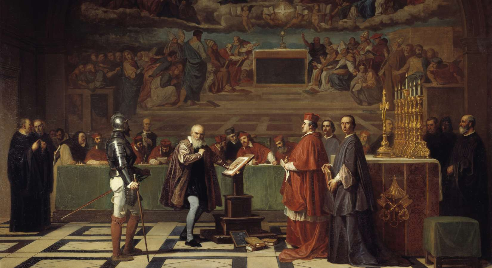 Galileo before the Holy Office - malt av Joseph Nicolas Fleury (1797-1890)